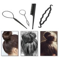 W4203 4Pcs Hair Twist Styling Clip Stick Pin Bun Braid Maker...