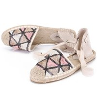 2019 women summer causal sandals, flat espadrilles beach san...