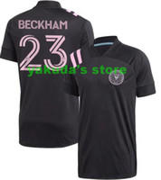 Men's Inter Miami CF Black 2021 Outaugural Away 23 Beckham تخصيص جودة التايلاندية 10 Pizarro شخصية 11 Pellegrini 21 Carranza ارتداء