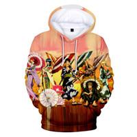 اليابان أنيمي قطعة واحدة 3d هوديس في الرجال / النساء طويلة الأكمام الربيع / الخريف عارضة جودة عالية شعبية الكرتون أبلى 3d الملابس