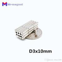 2019 imanes Rushed Zeitlich begrenzte 10mm Magnets De Nevera 50pcs Starke seltenen Erden Neodym-Magnet N52 Dia 3x10 mm 3 * 10 Großhändler