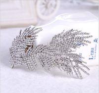 Bridal cheveux accessoires strass hidale diadème mode peigne peigne hidela bijoux mariage accessoires de mariage