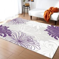 Purple White Flower Dahlia Carpets for Living Room Bedroom Area Rug Kids Room Play Mat 3D Printed Home Large Carpet