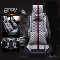 al por mayor de cuatro estaciones todos los accesorios interiores cubierta de asiento de coche concluyentes arte del paño del coche del sistema completo de la estera del coche para cinco coches de asiento