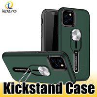 Para iPhone 11 Pro XS MAX XR 8 Plus LG G7 Hybird Armadura Case Voltar telefone Anti-gota Kickstand Celular Shell Capa izeso