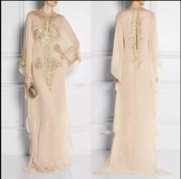 Новые длинные кристаллические мусульманские вечерние платья одежда для женщин в Дубайской жевальной шеи Шифон вечерние платья вечеринка