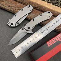 Kershaw 1555TI Titanium taktisches faltendes Messer Hinderer Entwurf Flipper Camping Jagd-Überlebens-Taschenmesser 8Cr13Mov Utility-EDC-Sammlung