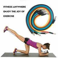 DHL de envío 11pcs / set tire de la cuerda ejercicios de fitness Bandas de resistencia del látex Tubos pedal excerciser entrenamiento Banda elástica FY7007