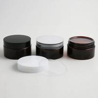24 x 100g Leer Bernstein Pflegecreme Container Cremedosen 100cc 100 ml für Kosmetik Verpackung Kunststoff-Flaschen mit Kunststoffkappe