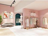 Negozio di abbigliamento Abbigliamento Display rack Commerciale Mobili Commerciale Tipo di pavimento Light Luxury Donne Panno Donne Shelf Shelf Oro Lato Appeso Decorativo