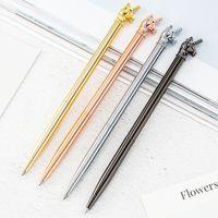 Creative Sculpture de Unicorn ananas Flamingo bille en métal Pen étudiant comme école d'écriture cadeau Fournitures de bureau Papeterie Pen