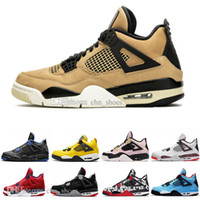 2019 New Bred 4 4s Mens Basketball Shoes IV What The Mushroo...