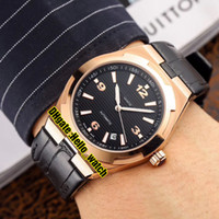 Cheap New Overseas 47040 / 000R-9666 Mens Automatic Data Assista Black Dial Rose Gold Case Leather Strap Gents Sport Relógios Hello_watch 5 cores