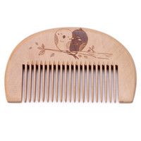 W6087 Wooden Hair Comb Men' s Beard Comb Anti- static Mal...
