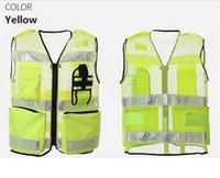 Флуоресцентная желтая сетка Светоотражающий жилет безопасности Clying Светоотражающая одежда Предупреждение