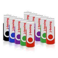 10 ADET / LOT Metal Döner USB PC Dizüstü Mac 5 Colors için 2.0 Flash Sürücü Pen Drive Thumb Memory Stick 64M 128M 256M 512M 1G 2G 4G 8G 16G 32G