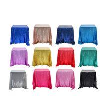 Sensaid Paillettes Tabella Panno Piazza Pure Color Articoli per arredamento per la casa Tovaglia con diversi colori 47QQ2 J1