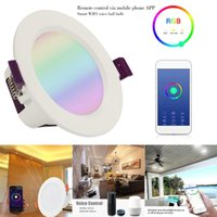 LED Smart Downlight 9W RGBW Multicolor WIFI Downlight Round ...