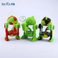 """SILICLAB Silicon Bongs Wasserrohr Dab Rig 5.3"""" Roboter-Silikon-Rauchpfeifen Bohrinseln Wachs Heady Rohre Kühlen Bong Heady Beaker Bubbler"""