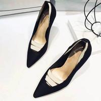 Inicio Zapatos Accesorios de Vestir detalle Calzado Producto de las nuevas señoras del estilo clásico bienes de lujo europeos zapatos de tacón alto de cuero puro de Swarovski