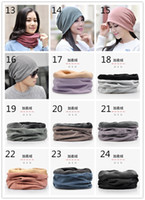 Winter Warm Knitted Hat 30 Designs Cotton Neckerchief Hats D...