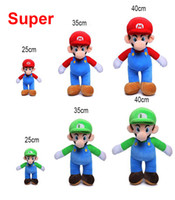 25cm 35cm 40cm Super Mario Bros Plush Toy Mario And Luigi St...