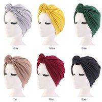 58 centímetros do cabelo Caps Laço Turban Hat Bohemian Top Knot Turban Africano Torça Cap Headwrap Ladies Mulheres Cabelo Noite Styling Acessórios