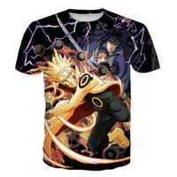2020-Sommer-T -Shirt Kurzarmhemd neueste Art Klassisches Anime Naruto Tees Kyuubi Naruto Uzumaki Drucke 3D-T-Shirt
