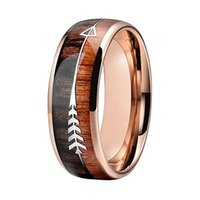 8MM Rose Gold Tungsten Carbide Rings for Men Womens Wedding ...