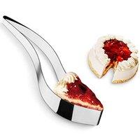 كعكة القطاعة خادم المقاوم للصدأ قطع الكعكة الكعكة فندان أدوات حلويات فطيرة سكين القاطع العفن diy الخبز كعكة سكين المعادن بالجملة