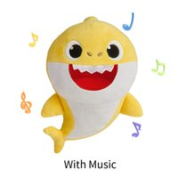 Soft Dolls Baby Cartoon Shark Toys With Music Cute Animal Pl...