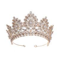 Corona de la novia del tocado de cristal del ornamento 2020 de Europa y América flor de la princesa de pelo súper inmortal matrimonio joyería del aro del pelo