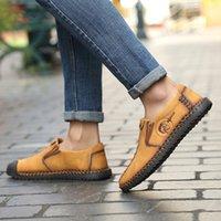 Nuove scarpe da ginnastica della moda di marca Slip Slip on anti-slittamento scarpe da uomo Slip-on slip-in pelle solida scarpe da uomo causale huarache caldo