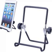 Metalltablet-PC-Standplatz-Einfassungs-Halter faltbarer rutschfester Mehrwinkelfür iPad 1 2 3 4 5 air1 2 Mini für iphone 6 7 8 x xs maximal mit Paket