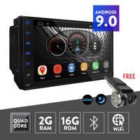 UGAR 안 드 로이드 9.0 2GB RAM 7 인치 2 Din 유니버설 자동차 DVD 플레이어 DVR GPS 블루투스 와이파이