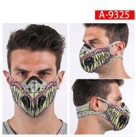 3D rosto camo de impressão à prova de poeira de gás máscara reutilizáveis máscaras de carbono respirador ativado filtros de venda quente proteção saudável anti poeira máscara boca
