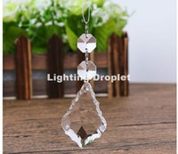 Free Shipping 38mm Crystal Droplet 40Pcs Clear Glass Chandelier Icicle Crystal Prisms Pendant Lamp Parts K9 100% Guaranteed