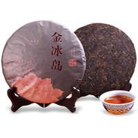 357g ventas caliente madura Puer de Yunnan Oro Islandia Puer Té natural orgánico cocido Pu'er El más antiguo Negro árbol Puer de la torta del té