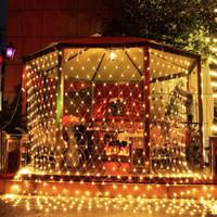 6 * 4 м / 1,5 * 1,5 м / 3 * 3 м / 8 режимов вспышки 110 В-220 В светодиодный супер яркий чистый свет строки рождественские огни новогодний свет свадебная церемония бесплатная доставка