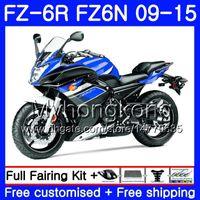 Corpo para Yamaha FZ6N FZ-6R 2009 2010 2012 2012 2013 2014 2014 2015 239hm.aa fz 6r fz6 r fz 6n fz6r 09 10 11 12 13 14 15 Fairings top azul Stock