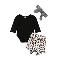 Toddler Kids Baby Girl Clothes Leopard Print shorts striped ...