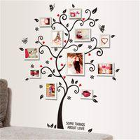 Quadro da foto da família diy adesivo de parede árvore decoração da sua casa sala de estar quarto decalques de parede poster decoração de casa papel de parede