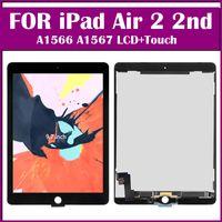 Pour Ipad Air 2 2 A1566 A1567 LCD écran tactile Digitizer Lentille en verre Assemblage de rechange