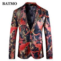 Batmo 2019 новое поступление высокого качества печатные повседневные блейзеры мужчины, мужские повседневные костюмы, печатные мужские куртки плюс размер 912