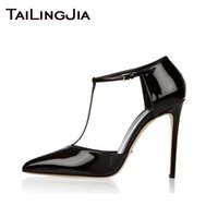 Black Pointed Toe High Quality Patent Leather High Heel Bran...