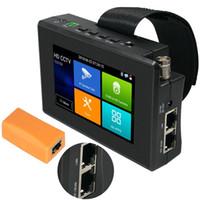 4 inç HD IP CCTV Test Cihazı Monitör AHD CVBS CVI TVI 8MP Kamera UTP Kablo Test Onvif WiFi Poe