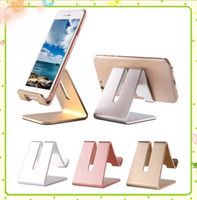 Universal Mobiltelefon Tablet Desk Holder Aluminium Metal Stand för iPhone iPad Mini Samsung Smartphone Tablets Laptop MQ30