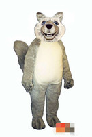 Tamaño personalizado adulto lobo gris traje adulto de la mascota envío gratis