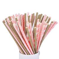 Биоразлагаемые розовые бумажные соломинки экологические красочные соломинки для питья свадьба дети день рождения украшения