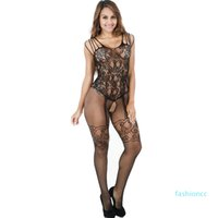New Arrive Womens Sexy Erotic Stockings Underwear 2020 New Women Lace Onesies Stockings Fashion Sleeveles Female Open Underwear